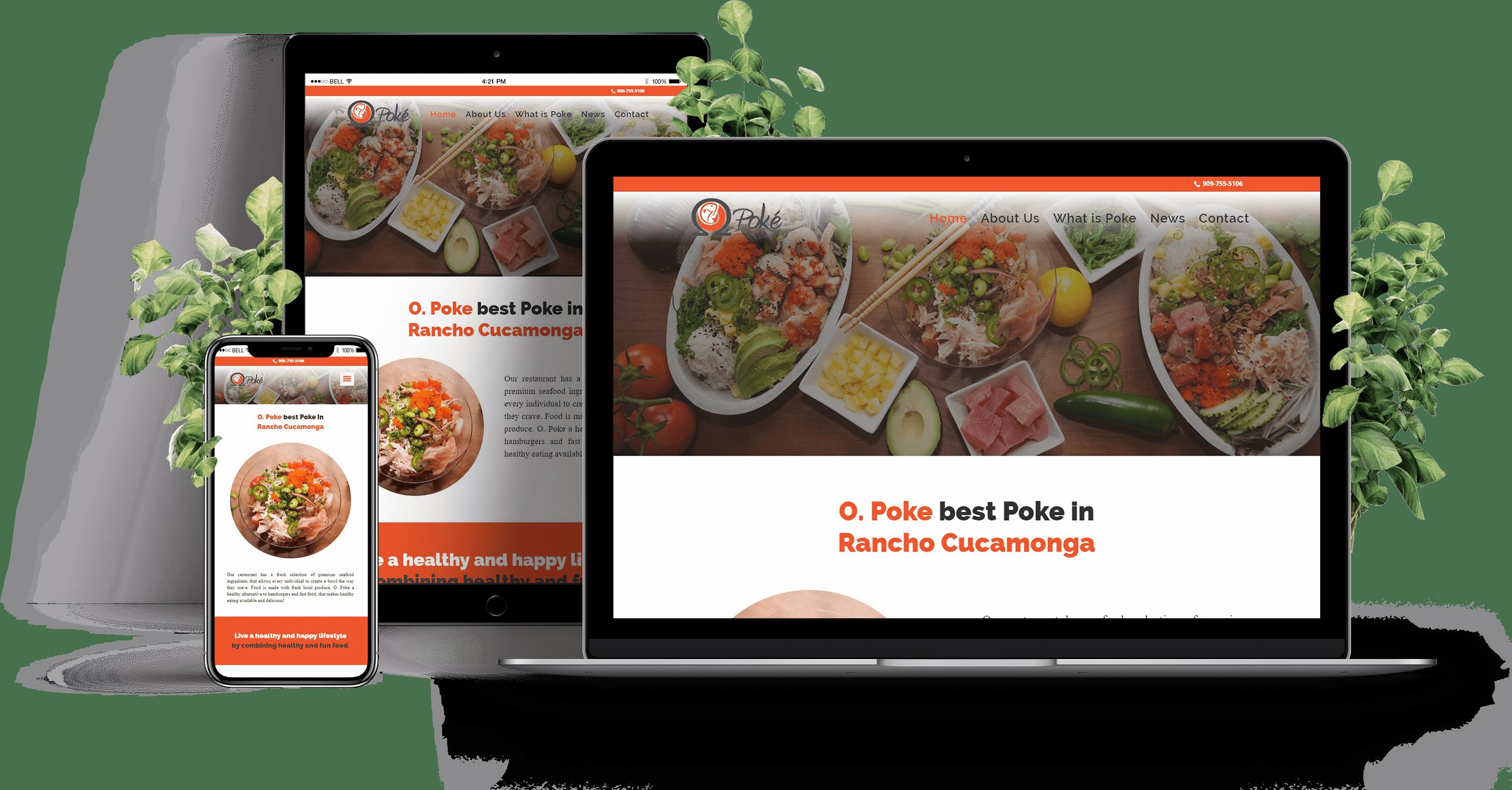 Responsive Omega Poke Website