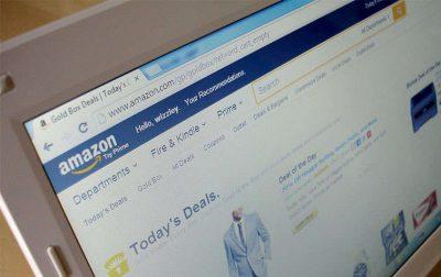 Photo of Amazon website on desktop