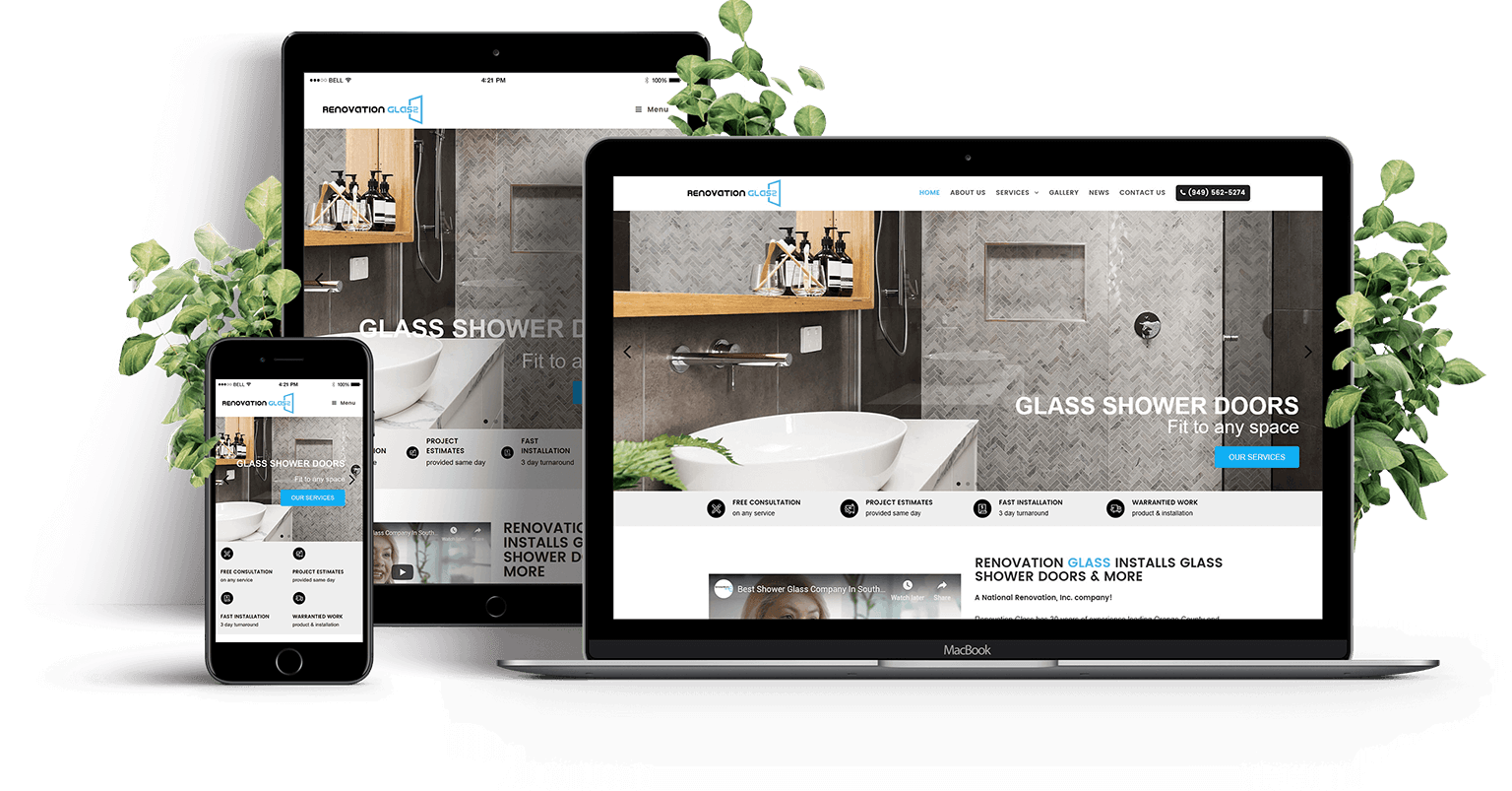 Renovation Glass Responsive Design